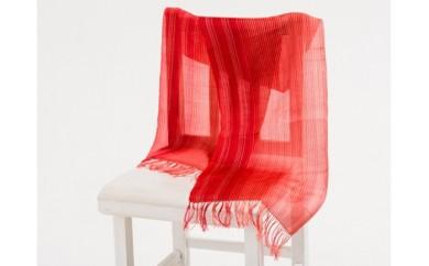 手織りショール(レッド)