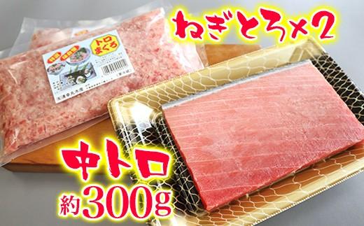 B)清幸丸水産 本まぐろ中トロ&ねぎとろセット