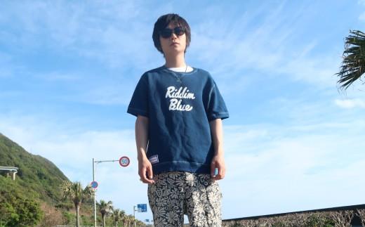 AI-05室戸オーガニック藍で染めた100%スウェットTシャツ