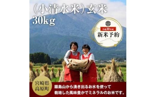 特産品番号65 高原町産!(小清水米)玄米30kg