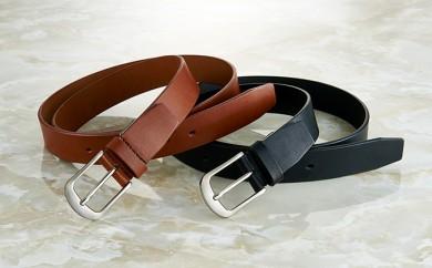 [№5696-3329]栃木レザー使用「肉厚一枚革長~いベルト」ブラック
