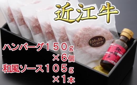 【溢れる肉汁で大人気!】近江牛と黒豚のハンバーグ【AF01-C】