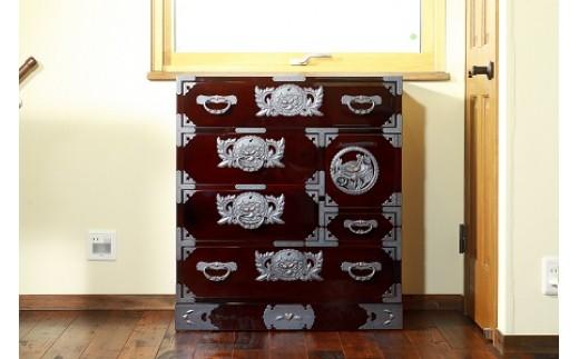 N021 仙台箪笥 手許箪笥 木地呂漆塗り