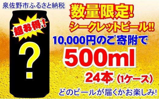 B702 数量限定!お得なシークレットビール!!500ml×1ケース(24本)