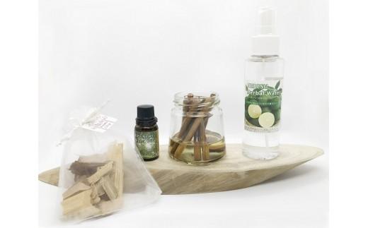15-23 日向のかおり 日向市産ヘベスのハーバルウォーター(限定品)+天然樟から生まれた・芳香清浄セット