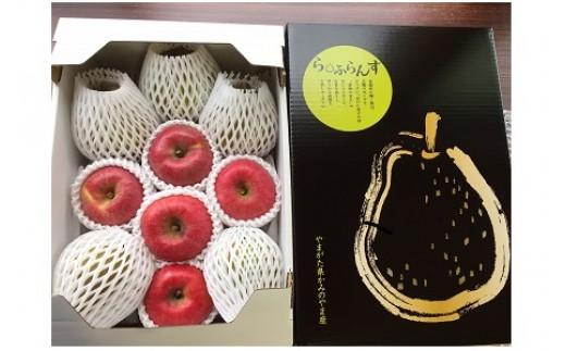 0041-106 西洋梨(ラ・フランス)とりんご(こうとく)の詰合せ 3kg