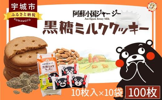 黒糖ミルククッキー 100枚 クッキー お菓子 阿蘇小国ジャージー