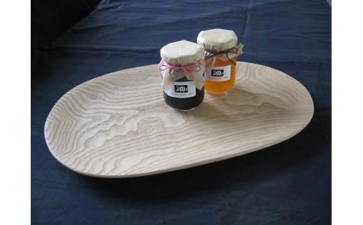 15056 そらまめ型無垢の木皿と季節のコンフィチュール