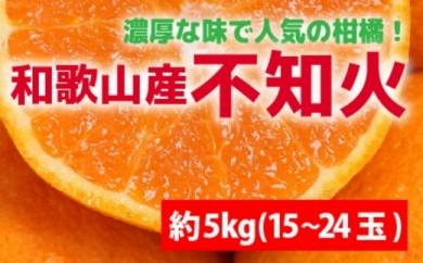 【数量限定】和歌山の不知火 約5kg(15~24玉)【紀州グルメ市場】