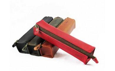 【ブラウン】鎌倉発 日本製オイルレザーのSTRUOドログラペンケース