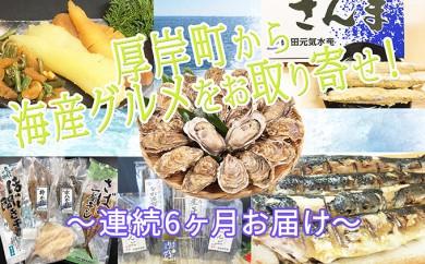 [№5863-0205]厚岸町から海産グルメをお取り寄せ!~連続6ヶ月お届け~