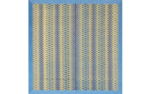 BH-0104 最高級い草カーペット「立花錦」(200×200)(色:ブルー)