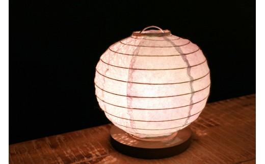 N22【流山あかり館@雑貨Konocono】美濃和紙の灯り テーブルランプ 丸(B-10)