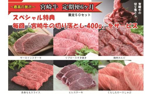 (1493)~最高の贅沢~ 宮崎牛 定期便6ヶ月 スペシャル特典付き 限定50セット