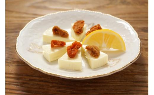 チーズとレモンを絞って