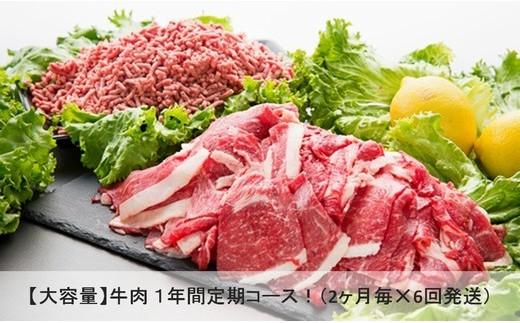Y084 【乳質日本一!】鳥取県産牛大容量 1年間定期コース