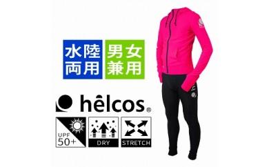 helcos (ヒルコス):ラッシュガード・上下セット(ピンク)Lサイズ