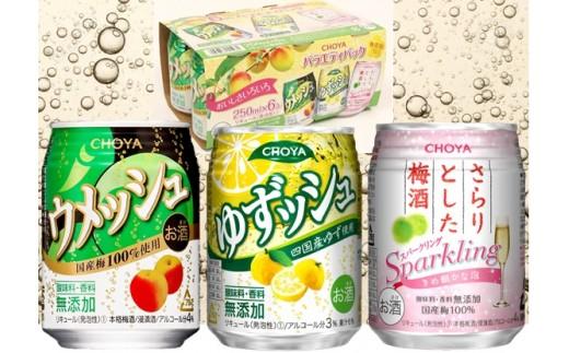C-88.【梅酒・リキュール】チョーヤ CHOYA バラエティパック3種アソート250ml ×48缶(2ケース)