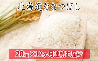 [№5641-0525]北海道産ななつぼし 20kg≪12ヶ月連続お届け≫