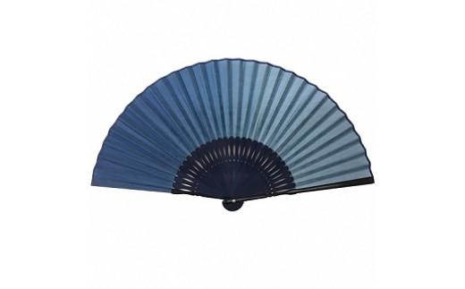 藍染め和紙扇子(ぼかし染め濃い色)