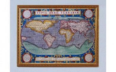 古地図オルテリウス(額入・複製)