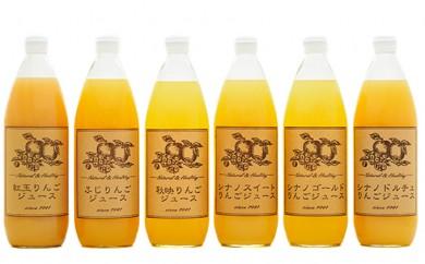 [№5915-0164]信州産りんご6品種のジュース詰合せ