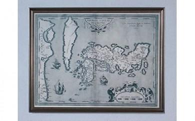 古地図ティセラ(額入・複製)