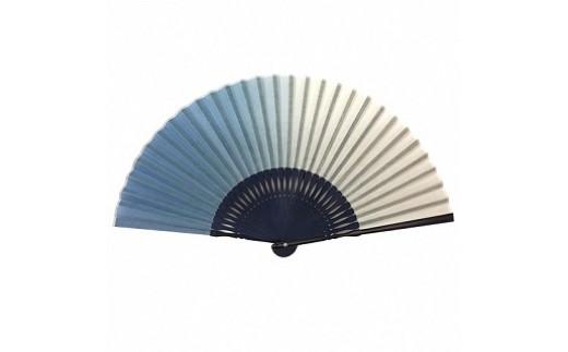 藍染め和紙扇子(ぼかし染めうす色)
