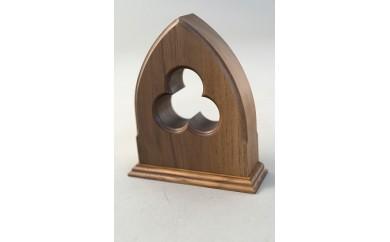 [№5737-0232]木製ブックエンド(ゴシック)