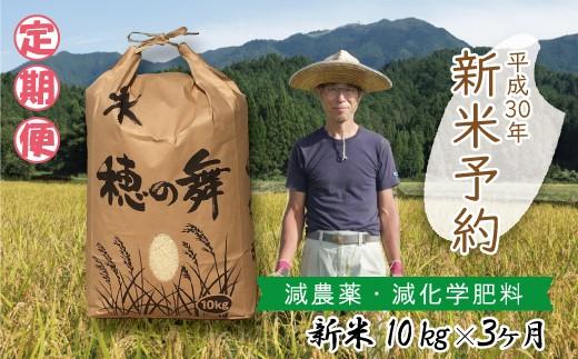 O-3 【H30新米】定期便 木村さんのコシヒカリ(10kg×3か月)【先着20名】