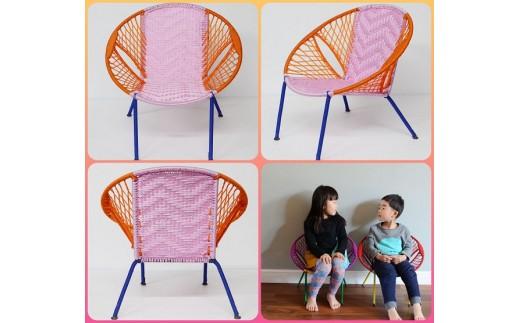 D-56.【子供用椅子】キッズラウンドチェア【限定数2】