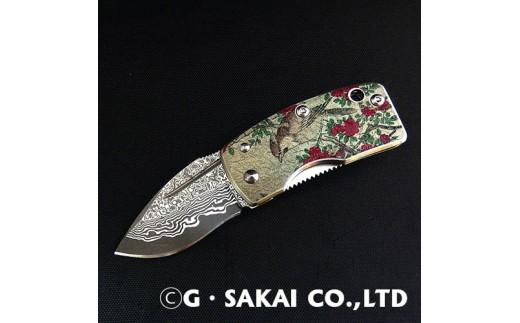 H22-21 浮紋-UKIMON-ダマスカス 山茶花(さざんか)