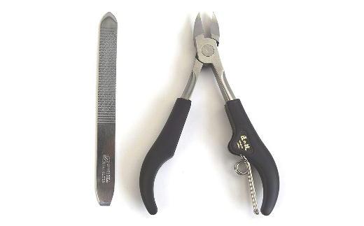 H13-09 匠の技 ステンレス製巻き爪・変形爪用ニッパー爪切り&爪ヤスリセット