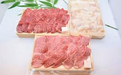 松阪牛焼肉セット(ホルモン・赤身カルビ・ロース)