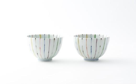 有田焼/そうた窯/線十草麺鉢(大)2個
