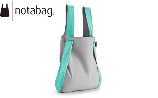 D8-06 notabag BAG & BACKPACK Gray/Mint