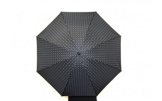 ネクタイ柄【紳士折りたたみ傘】晴雨兼用傘黒色