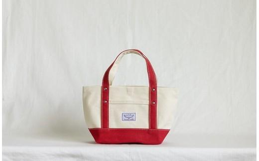 [0365]isa IB008帆布トートバッグ〔小〕 ホワイト×レッド