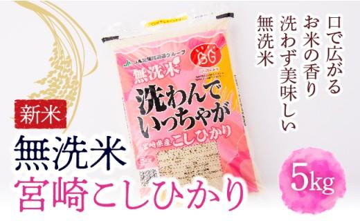 16-03押川商会【新米】無洗米宮崎こしひかり5kg
