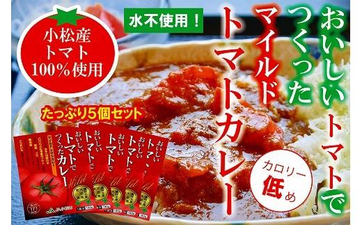 B13. 【トマト農家の味】マイルドトマトカレー(中辛)5個セット