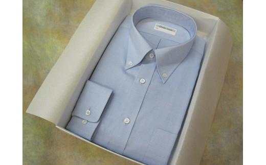 30-116 オーダーワイシャツOT オリジナルネーム入り貝ボタン仕様-奈良県川西町産「高瀬貝」にオリジナルネームを彫刻したものを使用-