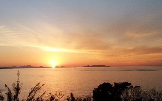 玄界灘に沈む夕日