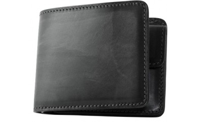 [SQ-07] SOMES SQ-07 2つ折財布(ブラック)