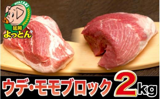 A23 延岡よっとん ウデ&モモ ブロック2.0kg