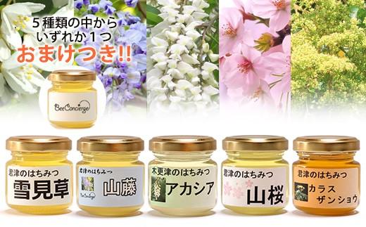 B)Bee concierge はちみつ5種食べ比べセット+おまけ付き!!