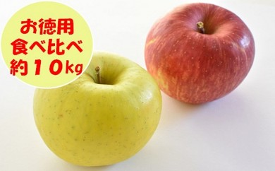 [№5991-0612]【お徳用】りんご食べ比べセット約10kg