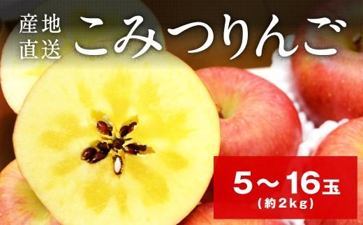 B712 【産地直送】超限定こみつりんご約2kg