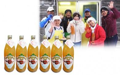 [№5761-0225]田子の無添加りんごジュース1L×6本 宇藤農園生産直送