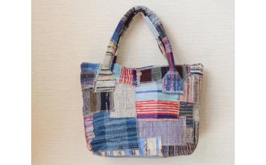 B093① 裂き織りのバッグ