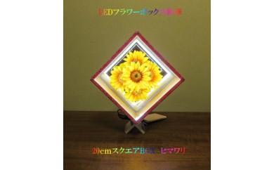 LEDフラワーボックス「彩華」ヒマワリ  20cmスクエアBOX